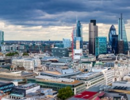 The City of London Panorama in the afternoon