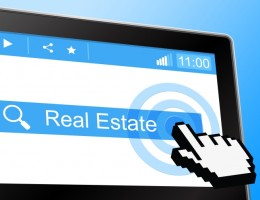 Real Estate Representing World Wide Web And Property