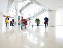 motion people in modern building