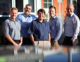 The senior management team at Howard Russell — Joe Prouse, Barry Wilkinson, David Varty, Craig Muldoon and Ian Goss.