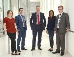 Some of Colliers' latest recruits (left to right): Katie Spackman, Nick More, Chris Dawson, Saiqa Noreen and Andrew Frost.
