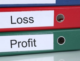 Loss and profit finances in company business concept
