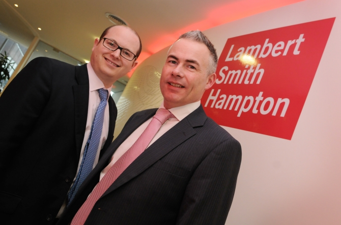 Richard Jones (right), head of retail and leisure at Lambert Smith Hampton in Birmingham, with head of office Adam Ramshaw