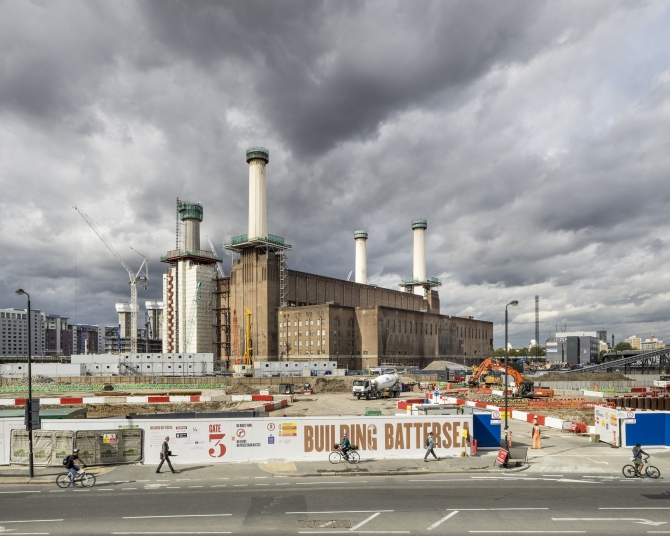 Battersea Power Station South West Chimney at 25m. Photograph ©Anthony Coleman/ VIEW