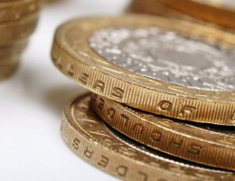 pile of 2 coins, uk currency