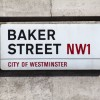 LONDON UK - JULY 10TH 2015: A street sign for Baker Street in the City of Westminster London on 10th July 2015.