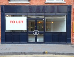 Vacant retail shop to let